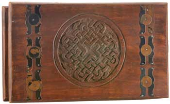 "Celtic Knot Wooden Chest 4"" x 10"""
